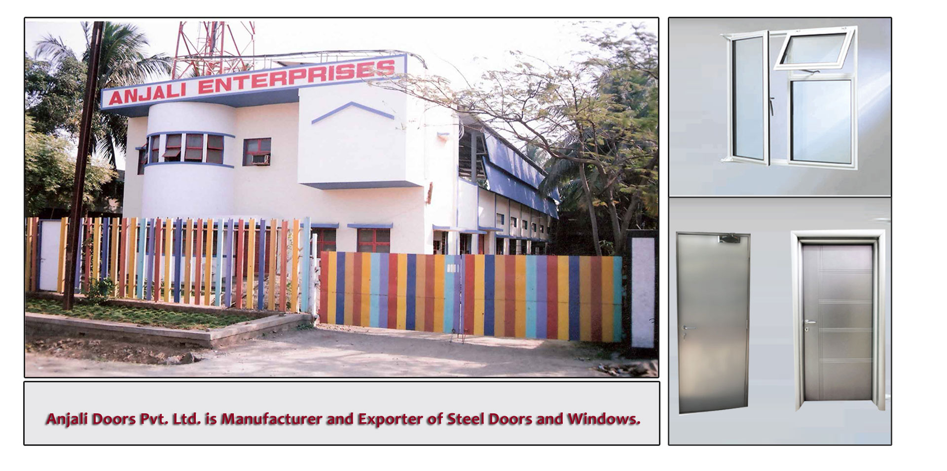 Hollow metal doors door amp gate usa - Anjali Doors Pvt Ltd About Us Manufacturer And Exporter Of Steel Doors Fire Resistance Doors And Windows